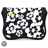 Built Ny Summer Bloom Envelope voor 9-10 inch Netbook - Zwart / Wit