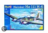Revell Vliegtuig Revell Vliegtuig Heinkel He111 H-6 - Bouwpakket - 1:72