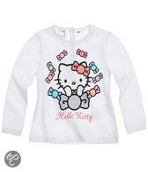 Hello Kitty Meisjesshirt - Wit - Maat 18 mnd