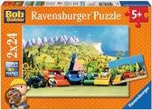 BOB de Bouwer: Onderweg met Bob - Kinderpuzzel - 2x 24 Stukjes