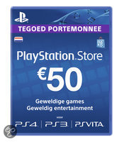 Sony PlayStation Network Voucher Card 50 Euro NL - PS4 + PS3 + PS Vita + PSN