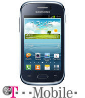 Samsung Galaxy Young - Blauw - T-Mobile prepaid telefoon