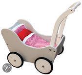 New Classic Toys Poppenwagen grijs met dekje