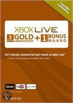 Foto van Microsoft Xbox Live Gold Abonnement 3 + 1 Maand Xbox 360