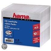 Hama 04751273 CD Slim Box - 4 x 10 pak / Transparant