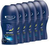 Fa Sport - 50 ml - Deodorant - 6 st - Voordeelverpakking