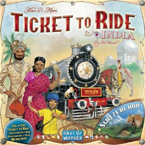Ticket To Ride India + Zwitserland - Uitbreiding