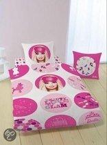 Barbie dekbedovertrek - Roze - 1-persoons (140x200/220 cm + 1 sloop)