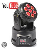 Beamz MHL-74 Mini Moving Head Wash 7X 10W DMX 13-Kanaals RGBW
