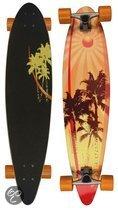 Nijdam Palmtree - Longboard - Geel/Rood/Bruin