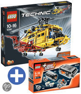 LEGO Technic bundel: Helikopter 9396 + Power functies set 8293