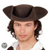 Piraat hoed bruin de luxe