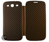 Anymode Folio Cover Warm Metal Spray voor Galaxy S3 (Carbon Brown)