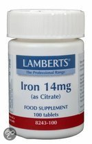 Lamberts IJzer Citraat 14 mg - 100 Tabletten