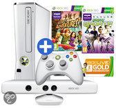 Microsoft Xbox 360 Slim 4GB + Kinect Sports 1 + Kinect Adventures - Limited Edition Casper