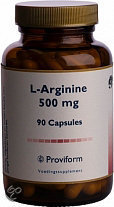 Proviform L-Arginine 500 mg - 90 Capsules - Voedingssupplement