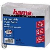 Hama 049682 CD Slim 4 Box - 5 stuks
