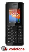 Vodafone Prepaidpakket: Nokia 108 (zwart) met 10 euro beltegoed