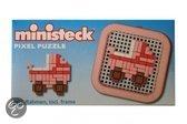 Ministeck Kinderwagen mini pixel puzzle met frame 8 x 8cm