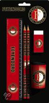 Feyenoord Schrijfset - 5-Delig - Zwart / Rood / Wit