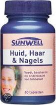 SunWell Huid, Haar & Nagels - 60 Tabletten - Voedingssupplement