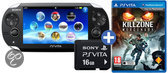 Sony PlayStation Vita Handheld Console WiFi + Killzone: Mercenary Download Voucher + 16GB Memory Card - Zwart PS Vita Bundel