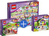 LEGO Friends Voordeelbundel: Heartlake winkelcentrum 41058 + LEGO Friends Olivia's ijskar - 41030 + LEGO Friends Stephanie's Lammetje - 41029
