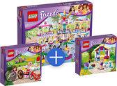 LEGO Friends Voordeelbundel: Heartlake winkelcentrum 41058 + LEGO Friends Olivia's ijskar - 41030 + LEGO Friends Stephanie's Lammetje - 41029