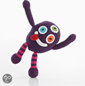 Pebble rammelaar - Chubby monsters Silly - Paars