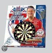Harrows Familie Set: Dartbord + Steeltip Dartpijlen
