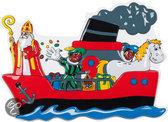 PVC Wanddeco Pakjesboot (53 x 75 cm)