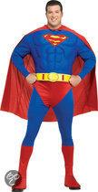 Superman Deluxe - Kostuum - Maat 4XL - Blauw