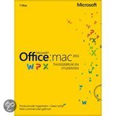 Microsoft Office Mac Home and Student 2011 - Nederlands / 1 Licentie / Eurozone Medialess