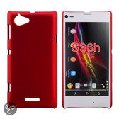 Sony Xperia L - rood hardcase - hoesje
