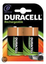 Duracell Oplaadbare  Batterijen D 2200mAh 2x Pak