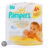 Pampers Sensitive Maximum care - 4x54 Doekjes