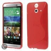HTC One E8 TPU Case S-shape Rood