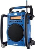 Sangean U-3 - Draagbare radio voor in de bouw - Blauw