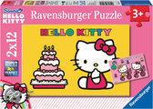 Ravensburger 2 Puzzels - Hello Kitty viert verjaardag