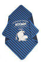 Moemin - Badcape 70x70 cm - Jeansblauw Gestreept