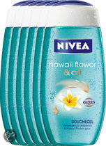 NIVEA Hawaii Flower & Oil - 250 ml - Douchegel - 6 st - Voordeelverpakking
