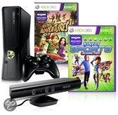 Microsoft Xbox 360 Slim 4GB + Kinect Sensor + 1 Controller + Kinect Adventures + Kinect Sports 2