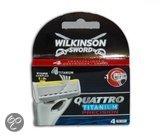 Wilkinson Sword Quattro Titanium Precision mesjes 4-pack