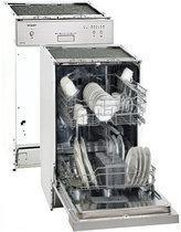 Exquisit EGSP 1090 E/B compacte volledig integreerbare vaatwasser