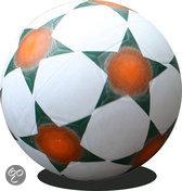Rubberen Straatvoetbal maat 5 zwart/wit 420 gr