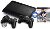 Sony PlayStation 3 12GB Super Slim + 2 Draadloze Controllers + FIFA 13