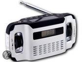 POWERplus Lynx, solar en dynamo oplaadbare AM / FM radio met LCD display en LED verlichting