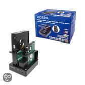 LogiLink Quick Port Dupli voor 2,5 + 3,5 inch SATA HDD + SDD, USB & eSATA