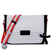 Little Company - Black Label Courier Bag Luiertas - Staal Rood