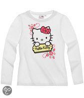 Hello Kitty Meisjesshirt - Wit - Maat 116